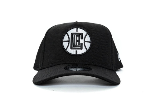 BLACK/WHITE new era 940 aframe los angeles clippers ball mesh new era cap