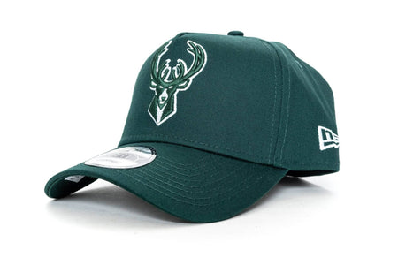 dark green new era 940 aframe milwaukee bucks new era cap