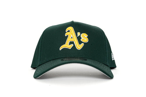 dark green new era 940 aframe oakland athletics new era cap