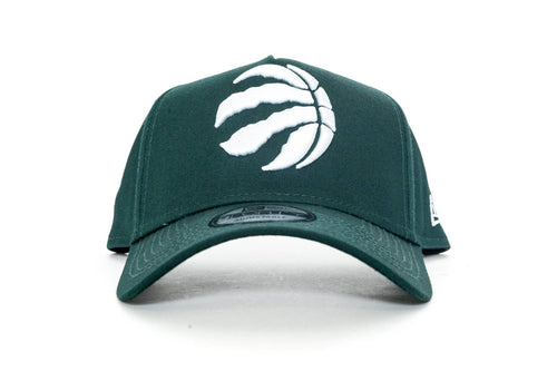 dark green new era 940 aframe toronto raptors new era cap