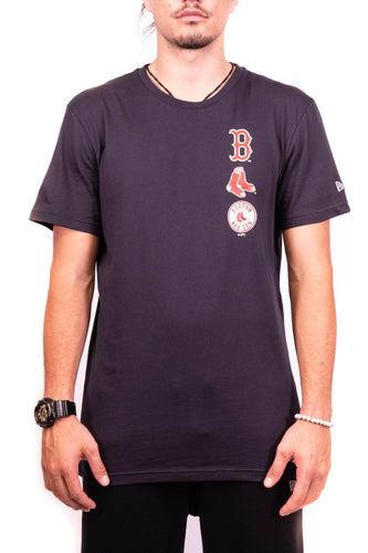new era boston red sox logo stack tee new era Shirt