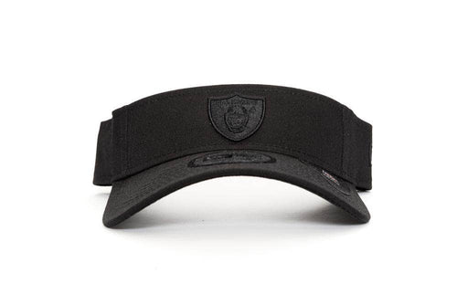 BLACK/BLACK new era visor las vegas raiders new era cap