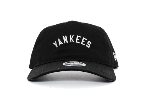 BLACK/WHITE new era womens 940 aframe new york yankees new era cap