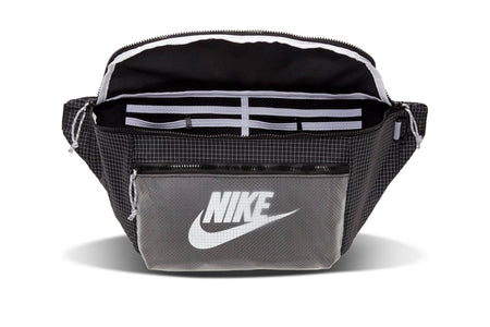 Black/Black/White Nike tech waist pack nike 00194500865853 bag