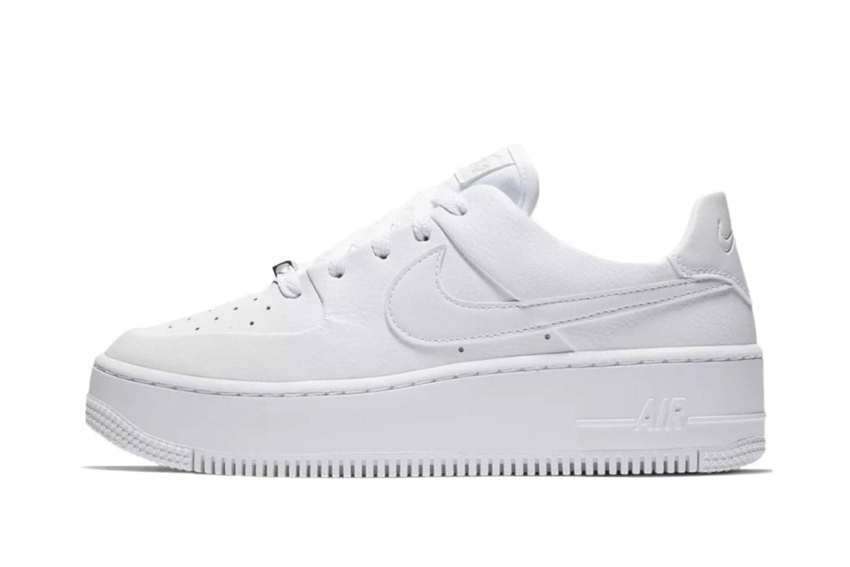 nike air force 1 womens sage low white
