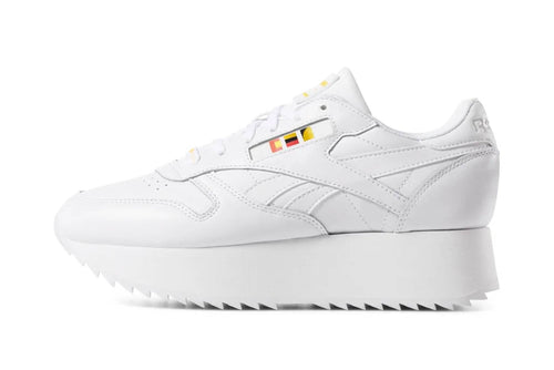 WHITE-NEON-RED-BLACK-GOLD / US 6 reebok womens classic leather double x gigi hadid reebok Shoe