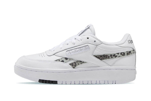 WHITE/SILVMT/BLACK / US 6 reebok womens club c double reebok Shoe