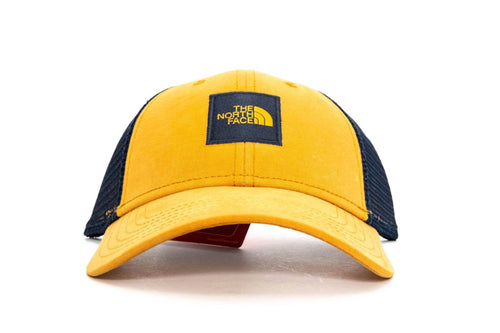 CITRINE YELLOW / URBAN NAVY the north face box logo trucker hat the north face cap