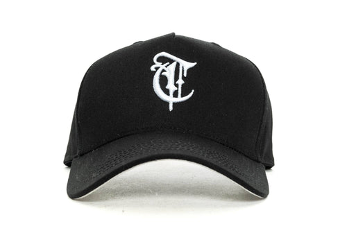 Black trainers gothic Aframe snapback trainers cap