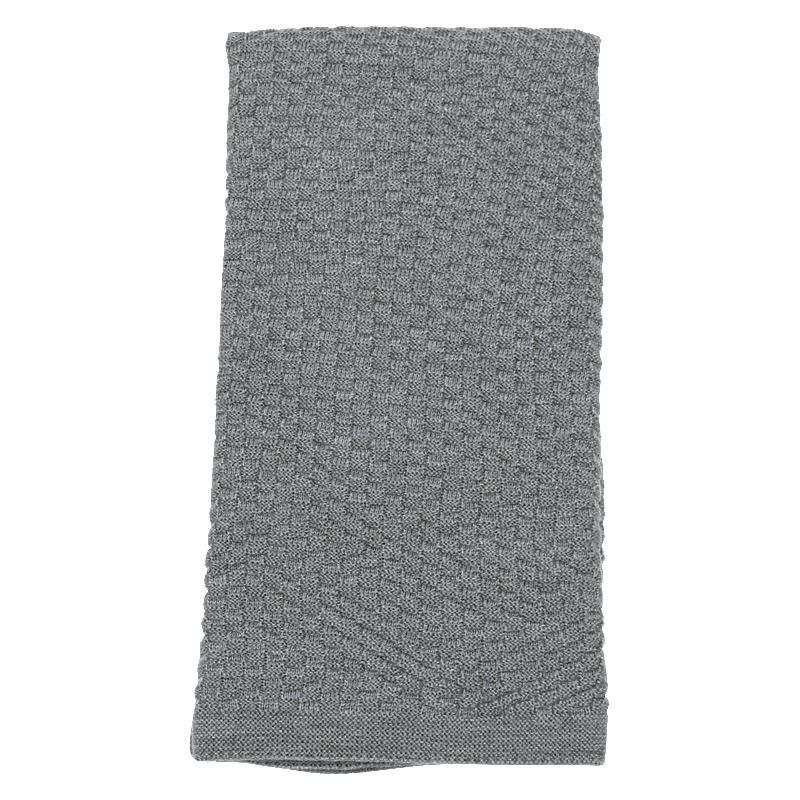 Grey Basketweave Blanket - Lou and Olly