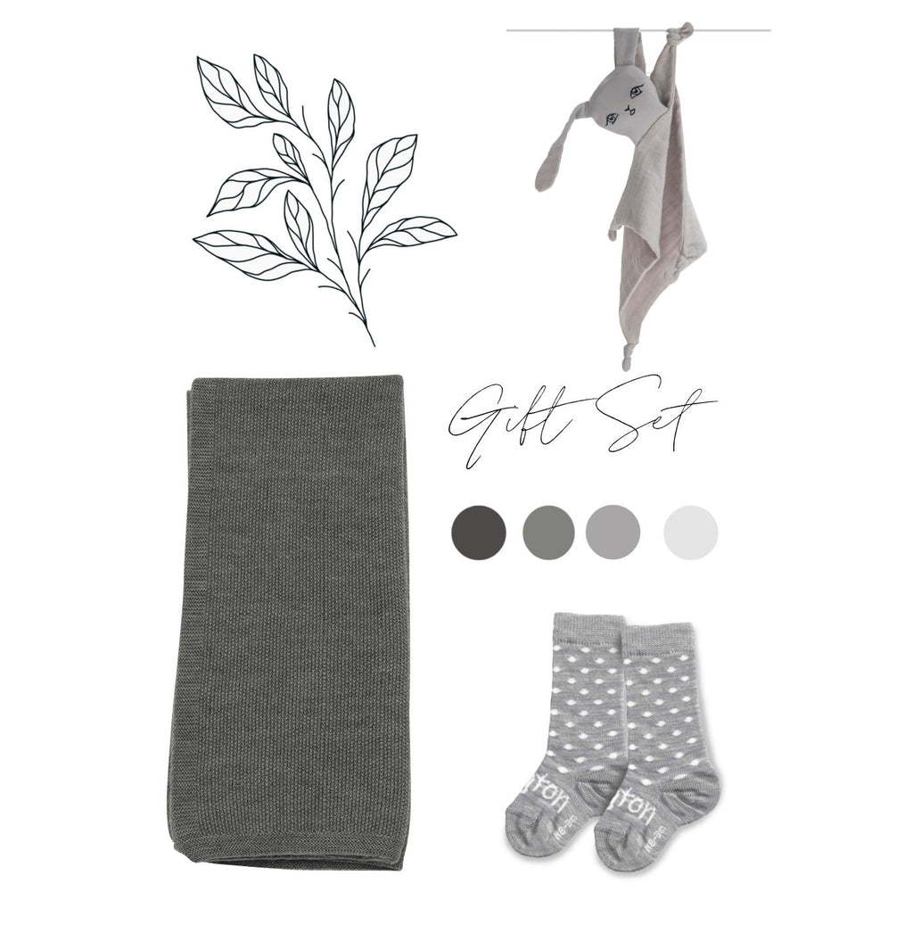Grey Blanket Gift Set - Lou & Olly Limited