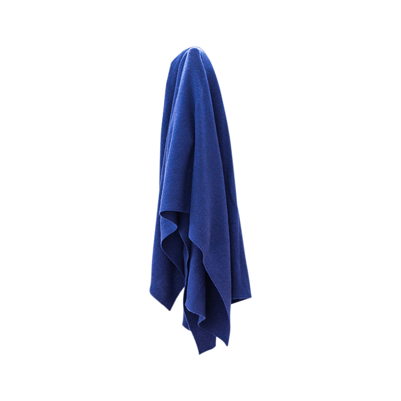 Mid Blue Super Soft Lightweight Merino Blanket - Lou and Olly