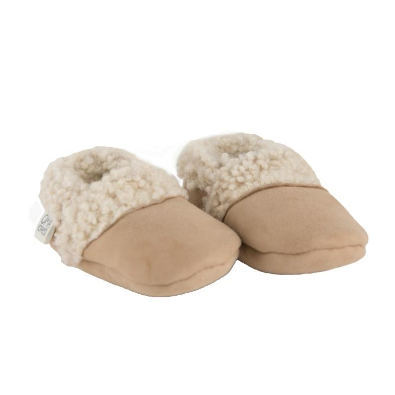 Natural Lambskin Slippers Size 0-3 Months - Lou and Olly