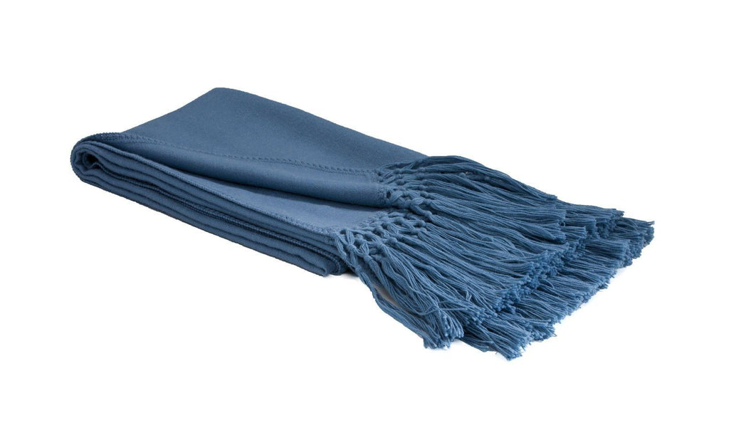 Woven Alpaca Throw Provincial Blue - Lou and Olly