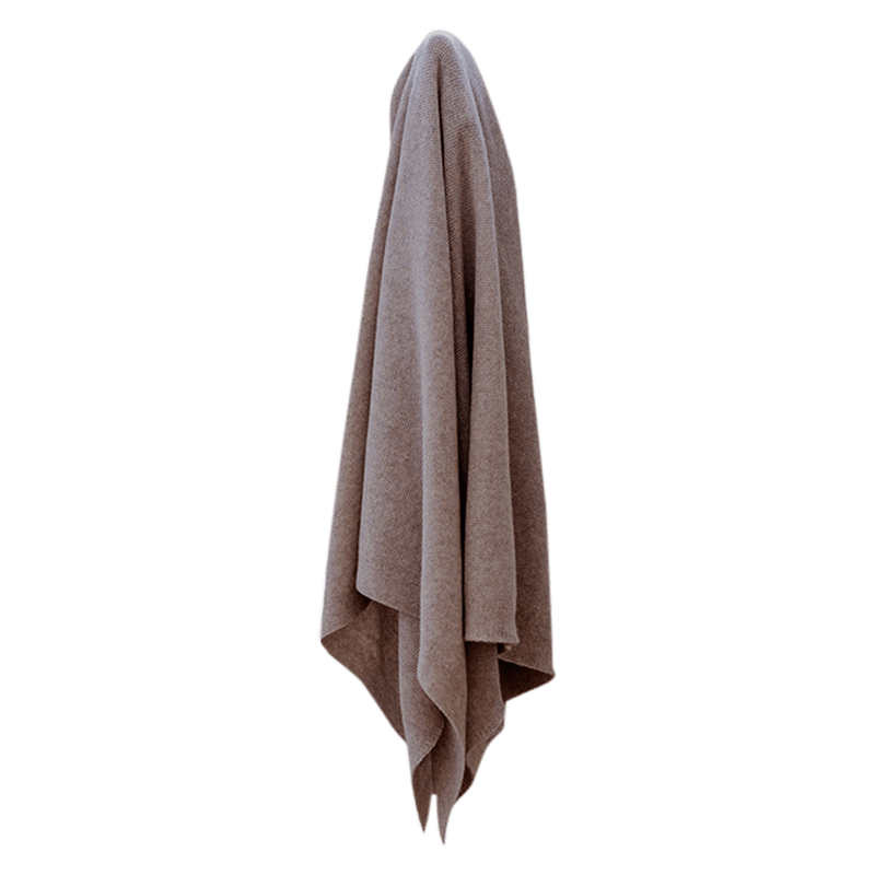 Sesame Super Soft Lightweight Merino Blanket - Lou and Olly