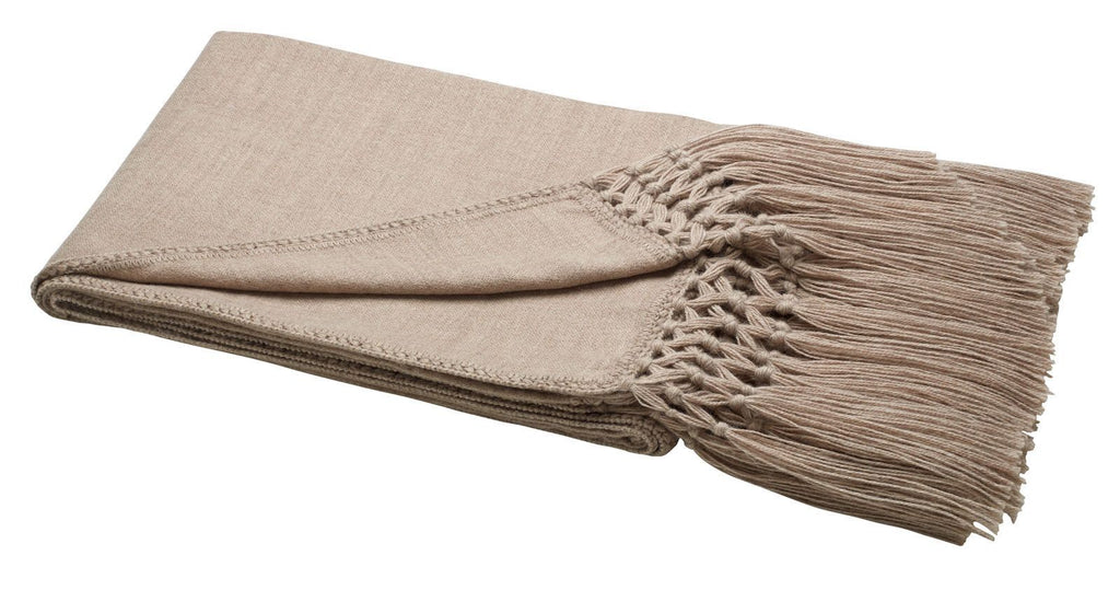 Woven Alpaca Throw Beige - Lou and Olly