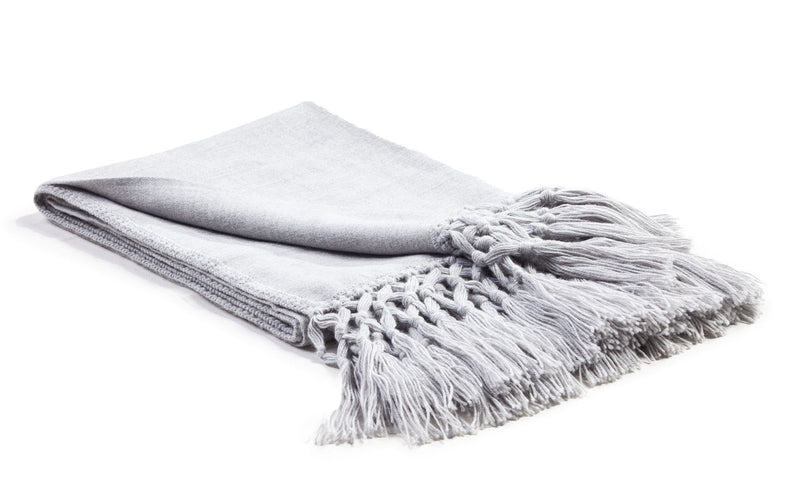 Woven Alpaca Throw Vapour - Lou and Olly