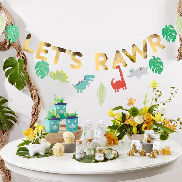A Rawrsome Dinosaur Themed Baby Shower