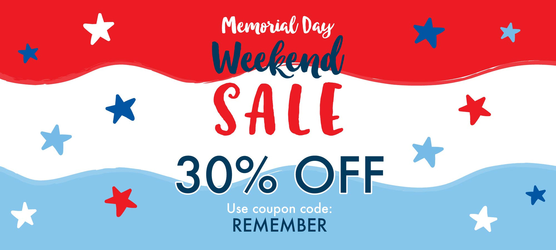 Happy Memorial Day Weekend! Enjoy 30% All Weekend When You Use Code REMEMBER at Checkout! | Corner Stork Baby Gifts