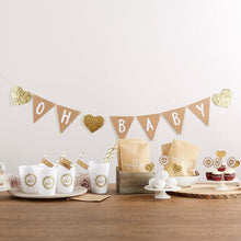 Load image into Gallery viewer, Oh Baby Rustic 73-piece Baby Shower Kit
