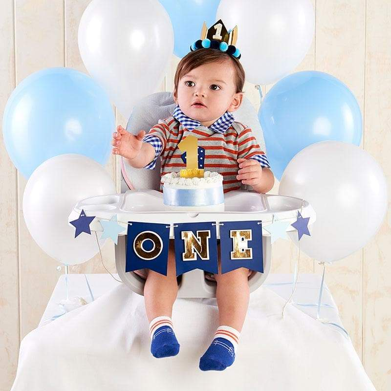 Blue & Gold 1st Birthday Décor Kit