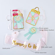 Load image into Gallery viewer, Baby Shower Belly Sash & Game Set