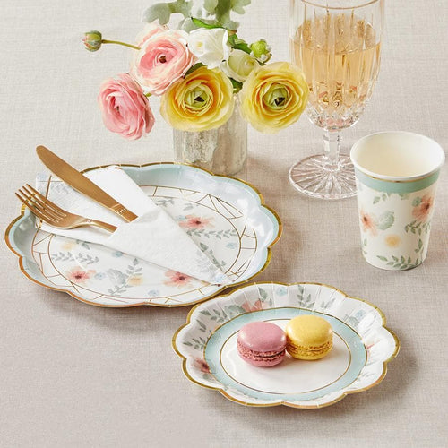 Geometric Floral Party Tableware Set
