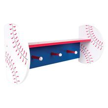 Load image into Gallery viewer, Baseball Shelf With Pegs