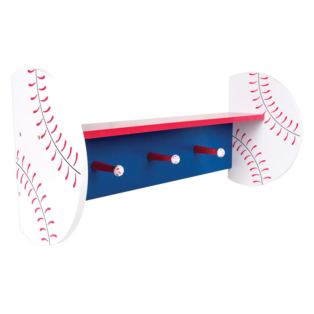 Baseball Shelf With Pegs