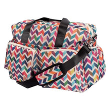 Load image into Gallery viewer, Multi-Colored Chevron Deluxe Duffle Diaper Bag