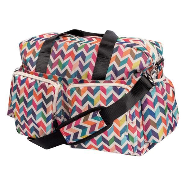 Multi-Colored Chevron Deluxe Duffle Diaper Bag