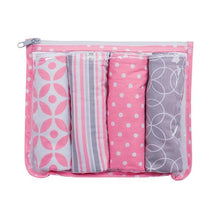Load image into Gallery viewer, Lily Zipper Pouch and 4 Burp Cloth Gift Set
