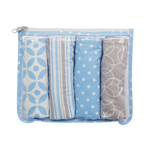 Load image into Gallery viewer, Logan Zipper Pouch and 4 Burp Cloth Gift Set