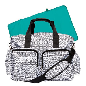 Black and White Aztec Deluxe Diaper Bag