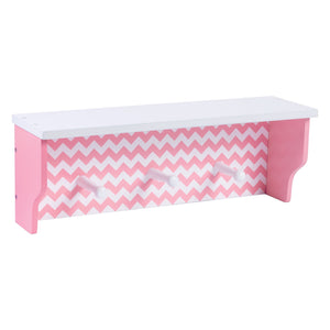 Pink Chevron Shelf With Pegs