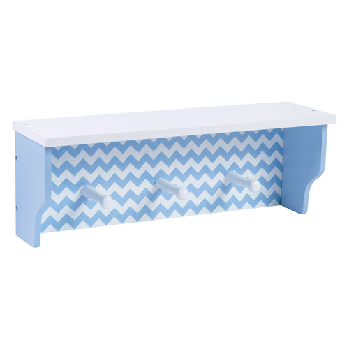 Blue Chevron Shelf With Pegs