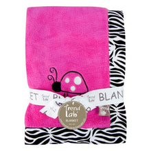 Load image into Gallery viewer, Pink Ladybug Fleece Receiving Blanket