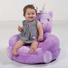 Load image into Gallery viewer, Unicorn Plush Character Chair