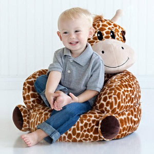 Giraffe Plush Character Chair