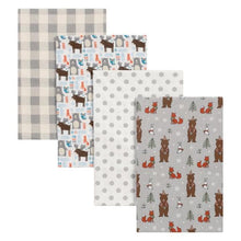 Load image into Gallery viewer, 4 Pack Flannel Blankets (Many Designs Available)