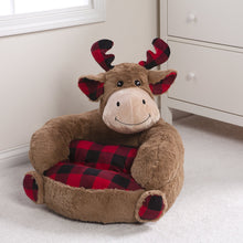 Load image into Gallery viewer, Buffalo Check Moose Plush Character Chair