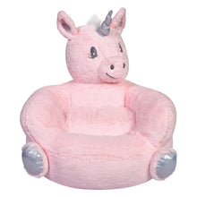 Load image into Gallery viewer, Pink Unicorn Plush Character Chair