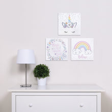 Load image into Gallery viewer, Rainbow Unicorns 3-Pack Canvas Wall Art