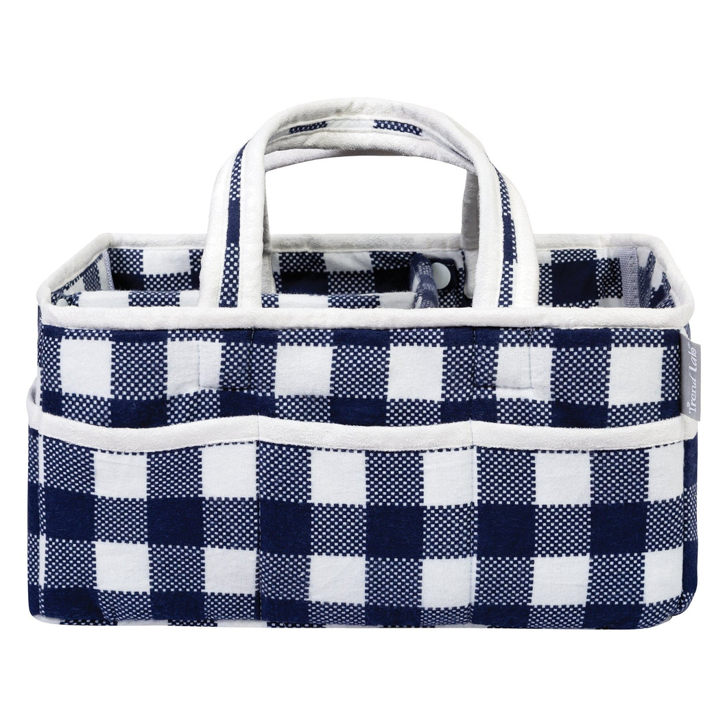 Navy and White Buffalo Check Storage Caddy