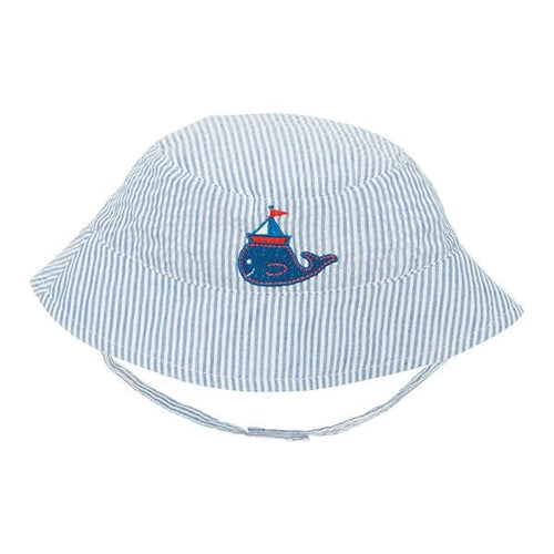 Blue Stripe Nautical Whale Sun Hat