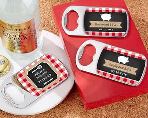 Personalized BBQ Silver Bottle Opener
