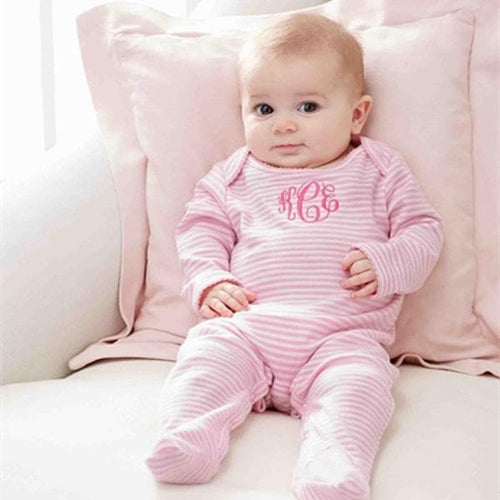 Pink Sleeper For Baby - 0-6 Months (Personalization Available)
