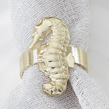 Load image into Gallery viewer, Gold Seahorse Napkin Ring (Set of 4)