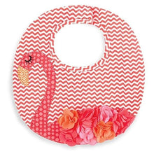 Load image into Gallery viewer, Flamingo Ruffle Bib