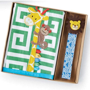 Giraffe Burp & Lion Pacy Clip Set